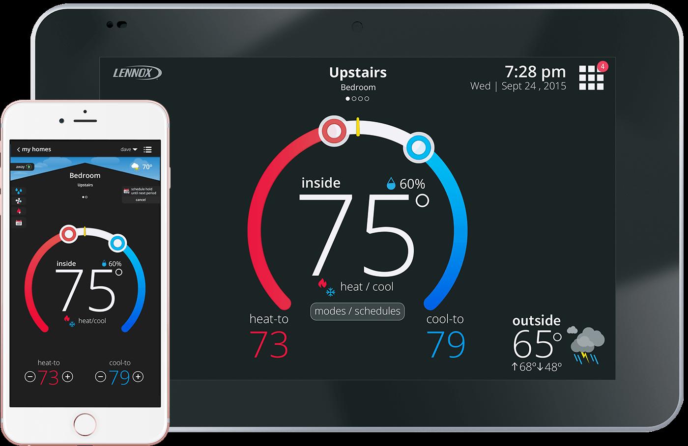 lennox icomfort s30. lennox icomfort s30 smart thermostat. view our work icomfort