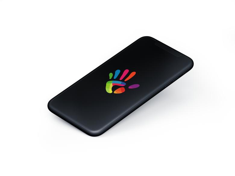 Krasamo Mobile App Developer Company Logo on Phone