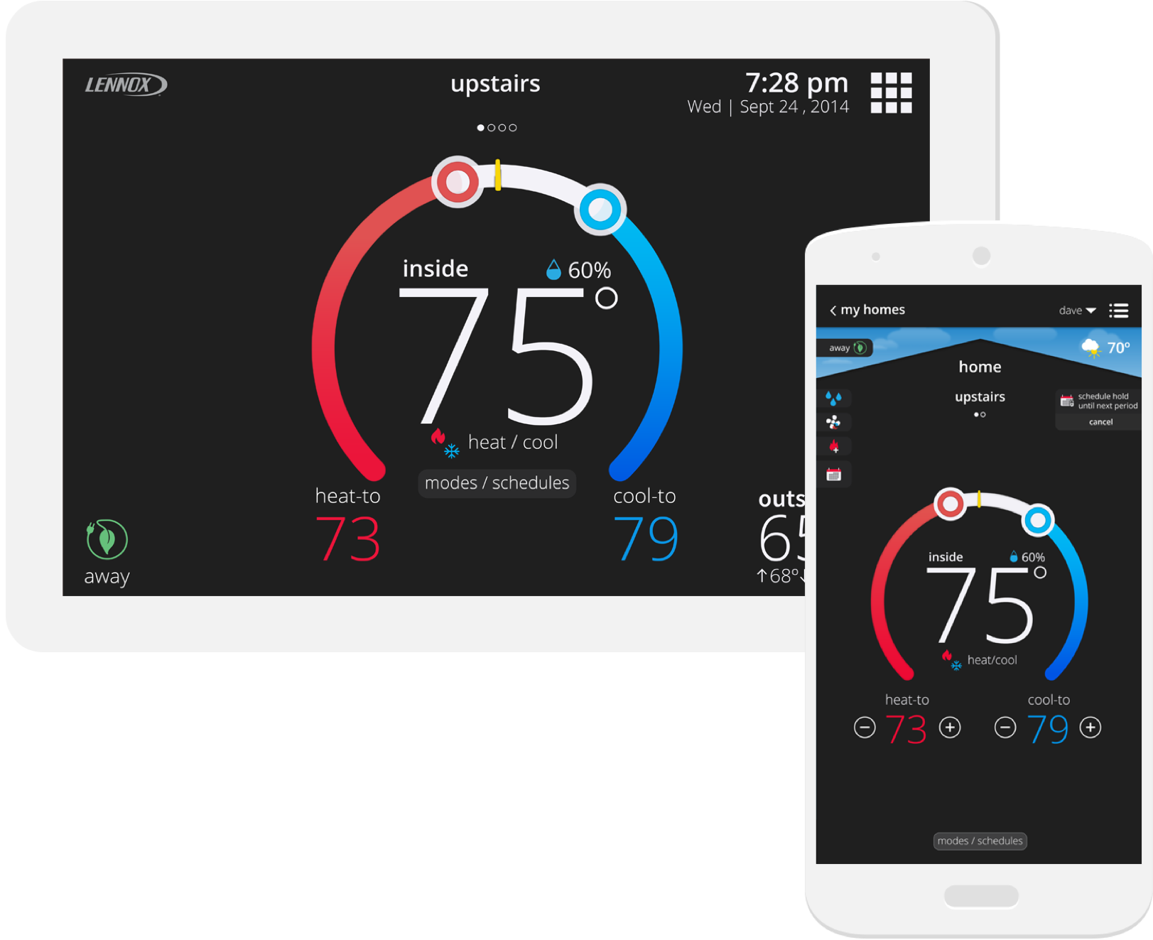 Lennox iComfort S30 Thermostat on Android and iOS