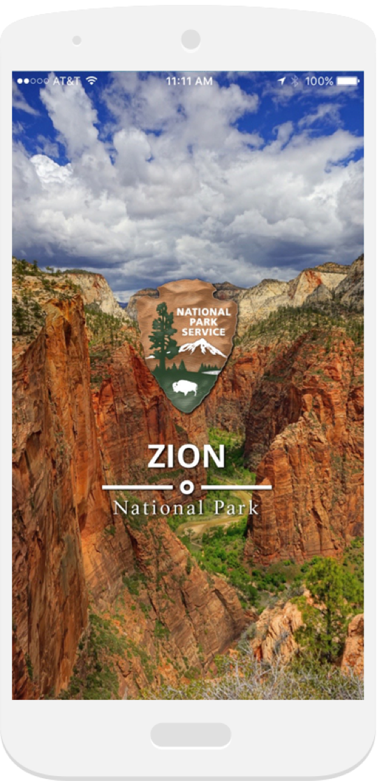 Launch screen for A Tour of Zion on iOS